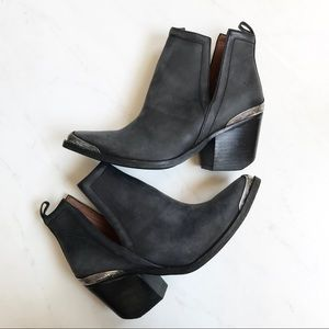 Jeffrey Campbell Cromwell Gray western boots 6